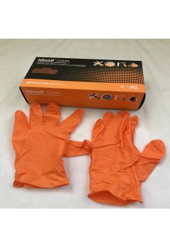 Перчатки нитриловые Mercator Medical ideall GRIP+(ORANG)  XL 50 шт Оранжевые