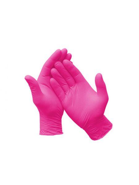 Перчатки нитриловые н/с, не/опудр, Care 365, розовые р. S (6-7) 50 пар (100 шт/уп)
