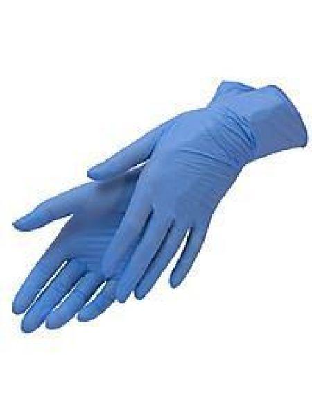 Перчатки нитриловые н/с, не/опудр, Care 365, голубые р. L (8-9) 50 пар (100 шт/уп)