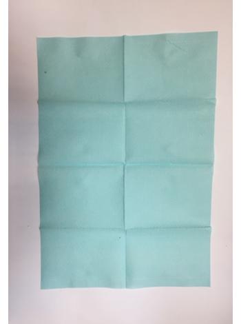 Стоматологический нагрудник №500, бирюзовый, 18 гр/м2