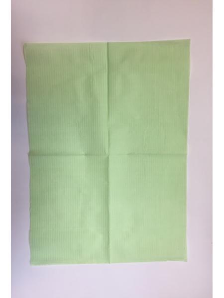 Стоматологический нагрудник №500, зеленый, 18 гр/м2