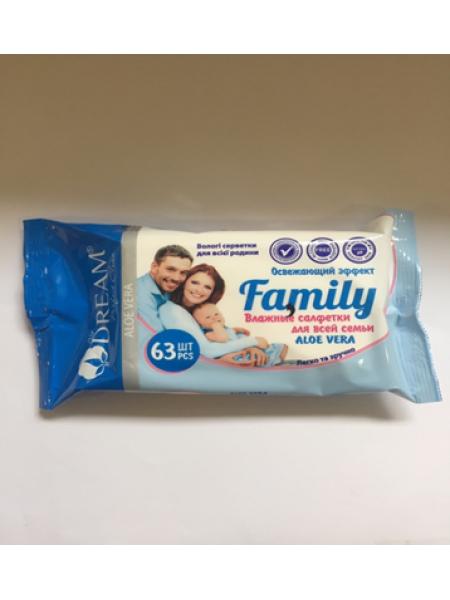 Влажные салфетки Air Dream для всей семьи №63