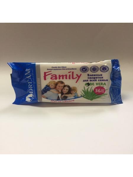 Влажные салфетки Air Dream для всей семьи №36 Aloe Vera