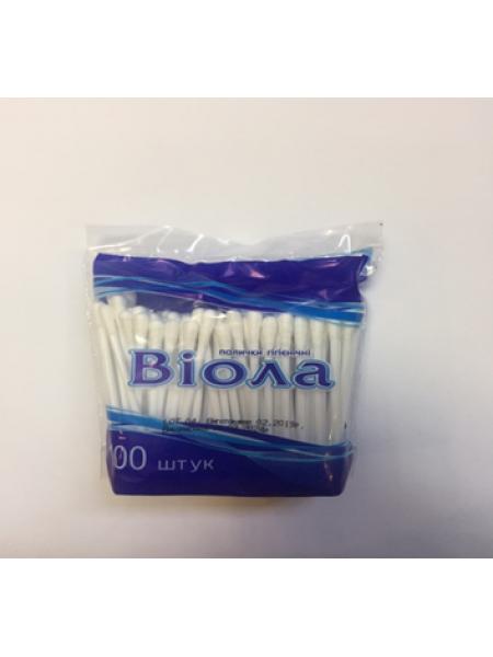 """Ватные палочки """"Виола"""", 100 шт/уп., 7%"""